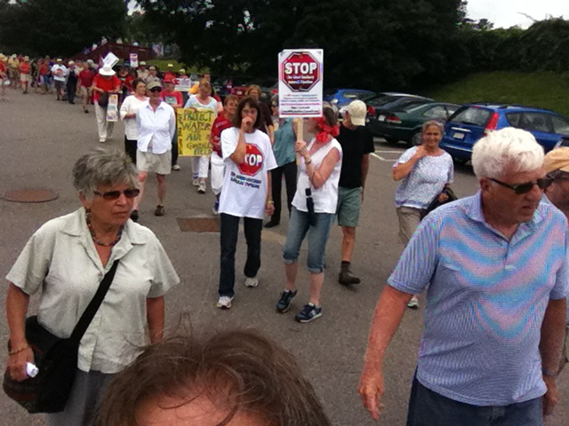 Marching through Dedham